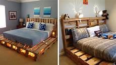 lit palette design diy fabriquer un lit en palette de bois cuboak