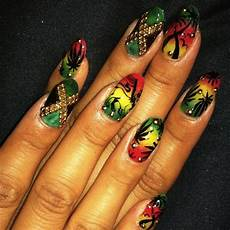 jamaican inspired nail art those nailz in 2019 rasta