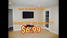 Diy Wall Mount Any Flat Screen Tv For Only 6 99 How To
