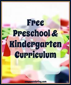 homeschool for free preschool kindergarten s wandering