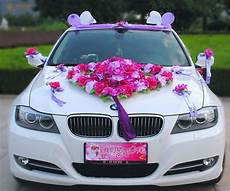 flower festooned vehicle wedding car decoration kit korean car decoration suits ebay