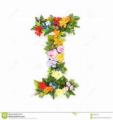 Letters Of Leaves And Flowers Stock Photo Image Of