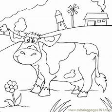 farm cow coloring page free cow coloring pages