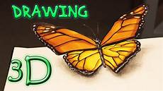 3d Butterfly Speed Drawing Illusion Schmetterling