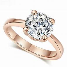 1ct solitaire bague de mariage or plaqu 233 bijoux or