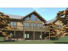 mountain house plans rear view mountain house plans 1 story mountain home plan 052h