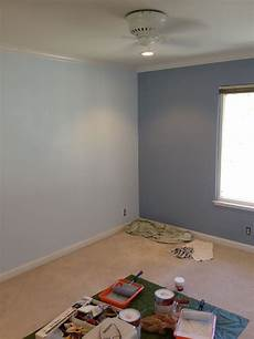 room painted using behr russian blue window wall and behr wave crest turned out lovely