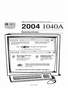 2004 1040a instructions fill online printable fillable blank pdffiller