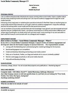 social media community manager cv exle learnist org