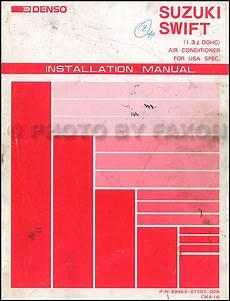 automobile air conditioning repair 1989 suzuki swift regenerative braking 1989 1991 suzuki swift gti dohc a c installation manual original