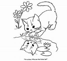 baby cats coloring pages animal pictures