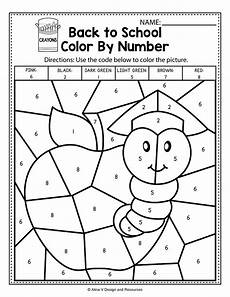 math color worksheets for 1st grade 12978 back to school color by number math worksheets and activities for preschool kindergarten and