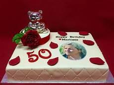 50 geburtstagstorte mit rosenblume happy birthday 50th