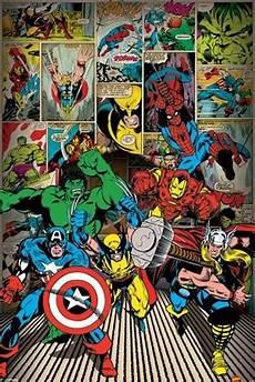 Marvel Comic Helden Malvorlagen Here Come The Heroes Marvel Comics Poster Buy