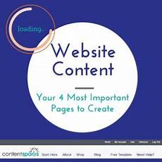 website content your 4 most important pages to create