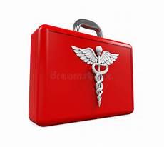 simbolo cassetta pronto soccorso caduceus il simbolo di guarigione illustrazione vettoriale