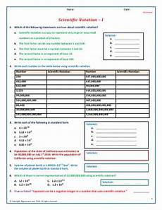 scientific notation fifth grade math worksheets biglearners
