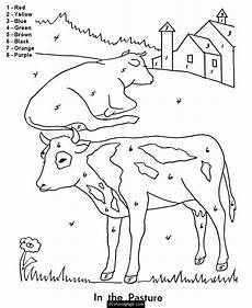 simple farm animals coloring pages 17459 color by numbers farm animals cows coloring page for printable with images