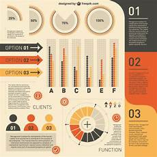 clients infographic in yellow and orange free vector