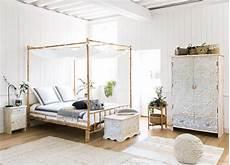 letto a baldacchino bianco letto a baldacchino 160 x 200 in bamb 249 e tessuto bianco