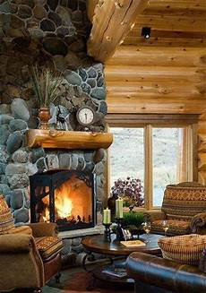 river rock fireplaces rock fireplaces and fireplaces pinterest