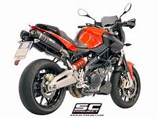 sc project exhaust aprilia shiver 750 oval silencers