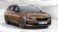 2020 skoda octavia rendered with sharp wagon