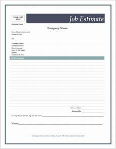 free estimate template template business