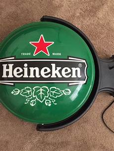 rare heineken double sided lighted rotating wall