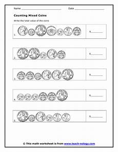 money value worksheets for 2nd grade 2372 quot counting mixed coins quot worksheet free from teachnology math notebooks teaching money math