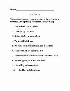 punctuation worksheets using commas 20910 punctuation worksheet periods and exclamation points tpt
