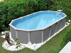Styropor Pool Komplettset - dieser elegante ovale swimmingpool mit besonders stabiler
