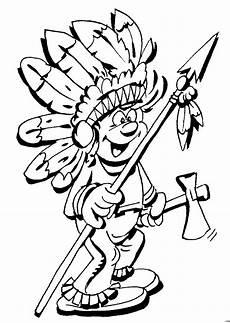 indianer mit speer ausmalbild malvorlage comics
