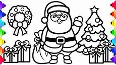 learn to draw santa coloring page coloring