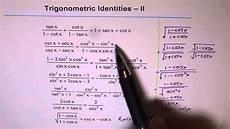 trigonometric identities worksheet 2 youtube