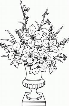 Malvorlage Blumen In Vase Vase And Flowers Coloring Page Coloring Home
