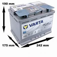Autobatterie 60 Ah - varta 560901068d852 autobatterien silver dynamic agm 12 v