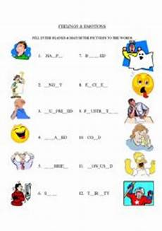 emotions match and fill in the blank esl worksheet by snavy