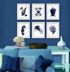 Navy Blue Home Decor Ideas by Details About Navy Blue Sea Coastal Wall Decor Set Of