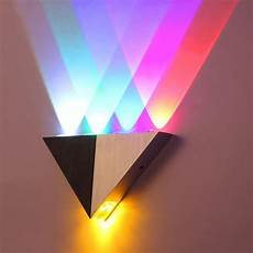 modern triangle 4w led wall multicolor sconce spot light
