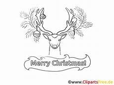 Weihnachten Malvorlagen Rentier Rentier Bild Malvorlage