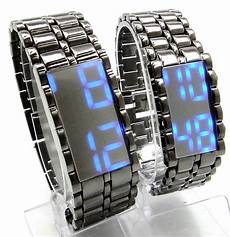 dijual jam tangan murah jam tangan tokyo flash iron samurai mirror black led blue terbaru