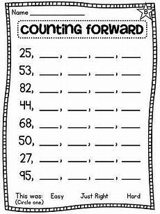 1st grade math worksheet counting by 10 counting forward from any number differentiated worksheets