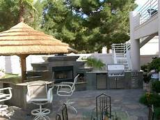 Outdoor Kitchens Las Vegas complete outdoor kitchen with fireplace las vegas