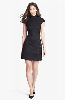 ted baker stretch aline dress in black lyst