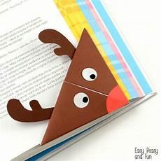 reindeer origami corner bookmark origami