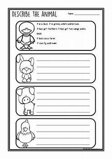 describe animals worksheets 13839 describe the animal farm animals by a place for tpt