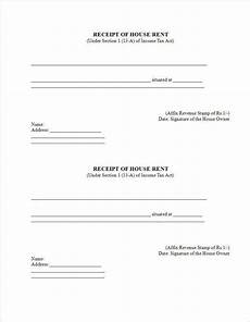 3 printable house rent receipt templates pdf doc