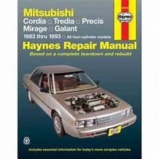 car manuals free online 1988 mitsubishi cordia security system mitsubishi cordia tredia galant precis mirage 1983 1993 sagin workshop car manuals repair