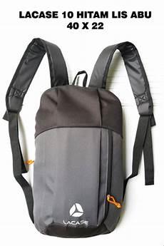 jual tas ransel backpack cowok pria lacase 10 hitam lis abu di lapak oxynette oxynette
